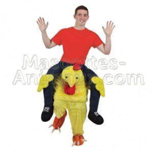déguisement mascotte poussin. riding mascotte.