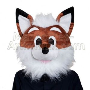 image tête mascotte renard